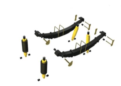 Važiuoklės komplektas +40 mm Hilux 2015-