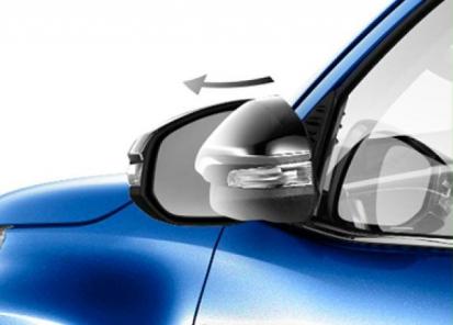 Automatiškai užsilenkiantys galinio vaizdo veidrodėliai