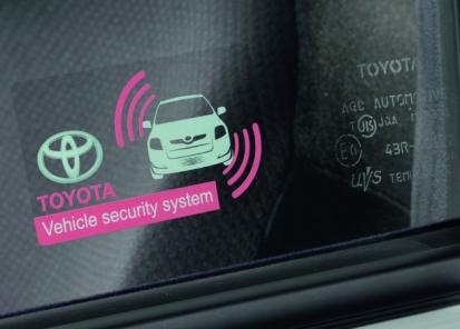 Toyota signalizacija su posvyrio jutikliu